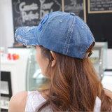 ホック及びループが付いている安いポリエステル及び綿の野球帽