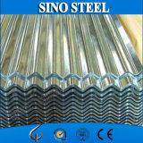 Покрынный цинком гальванизированный Corrugated лист толя