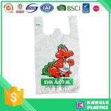 Zak van de Kruidenierswinkel van de T-shirt van de Prijs van de fabriek de Plastic voor Supermarkt