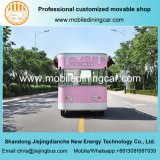 중국에 있는 판매를 위한 주문을 받아서 만들어진 아이스크림 트럭 또는 음식 트럭