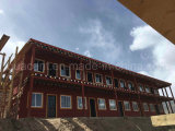 Estilo tibetano Prefab Log Wood House-Two Floor