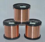 Fio de alumínio folheado de cobre de cobre do diâmetro 0.20mm do CCA do fio