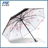 Sakura Printed Sun e Rain Folding Umbrella
