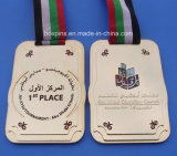 金銀製のマラソンのカスタム実行賞メダル