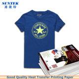 Papel de transferência térmico do laser do Inkjet escuro do t-shirt da cor A4 clara