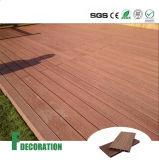 Decking composto plástico de madeira de madeira da plataforma WPC da madeira da grão