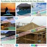 La hutte artificielle couverte de chaume synthétique de barre de Tiki de chaume de Bali Hawaï de ressource de toit des Maldives a couvert la maison de chaume