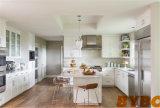 De moderne Hoge Glanzende Witte Keukenkast van de Lak (door-l-96)