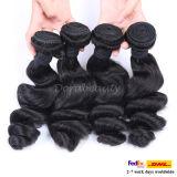 人間の毛髪の織り方の緩い波のブラジルのRemyの毛の拡張