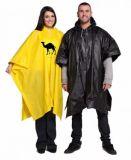 Плащпалата PVC, многоразовая плащпалата дождя PVC взрослого с печатание логоса для рекламировать