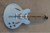 Гитара металлического голубого полого качества Firebird тела электрическая