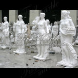 Statua bianca Ms-193 di Carrara della statua del granito della statua della pietra della statua di marmo