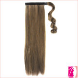 L'embrouillement libèrent la prolongation de cheveux de queue de poney de cheveux humains de 100%