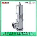 32mm de acero inoxidable Ss304 Sanitaria Grado Alimenticio Válvula de Alivio de Aire