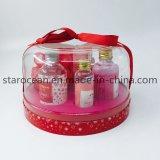 Caixa de presente cosmética desobstruída personalizada do pacote do PVC para o produto de beleza