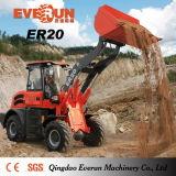 2t Everun CE aprobó Granja compacta Cargadora de ruedas con Pinza Forks