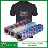 Qingyi hologram Easy Weed Heat decal vinyl for Garment