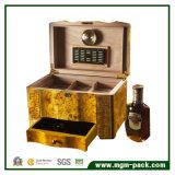 Cedro di qualità superiore con il contenitore di sigaro di legno di memoria del cassetto del cassetto