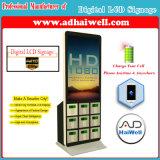 """station de charge mobile libre de téléphone cellulaire de kiosque de joueur de Signage de 42 """" Digitals d'écran LCD"""