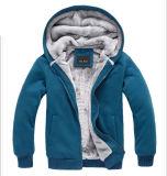 Soem-kundenspezifische Männer Wholesale normaler Winter-warmen Reißverschluss Hoodies mit Vlies