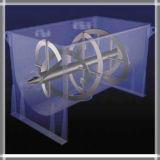 Macchina chimica del miscelatore della polvere del doppio nastro orizzontale di modello appiattito
