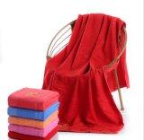 매우 중국 공장 사치품에 의하여 주문을 받아서 만들어지는 색깔 100%년 면 목욕 수건