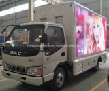 6 veículo de anúncio móvel das rodas JAC com a tela colorida do diodo emissor de luz