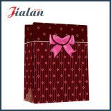Bolso de papel impreso insignia de sellado caliente del regalo del negro del precio de fábrica