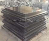 Natürliche/Qualitäts-mongolische schwarze Granit-Polierfliesen für Prüftisch-Oberseiten/Fußboden-Fliesen