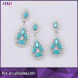 Conjuntos calientes de la joyería de la venta de la manera de piedra de Champán CZ para el partido de las mujeres