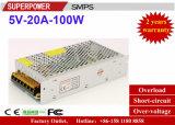 Schaltungs-Stromversorgung des LED-Fahrer-5V20A 100W aufgehoben für Drucker 3D