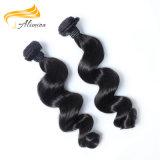Do cabelo frouxo malaio do Virgin da onda de Alimina 100% trama de tecelagem