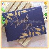 Impressão feita sob encomenda do cartão de papel de negócio, impressão do cartão do presente