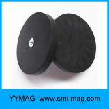 Aimant en caoutchouc noir de bac de néodyme de l'enduit N35 pour le distributeur de l'eau