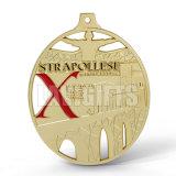 3D medalhões ao ar livre da medalha maratona macia feita sob encomenda da estação de acabamento da fita da concessão do esmalte do metal 26.2 da meia com colhedor