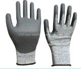 13G geschnittene beständige Arbeitshandschuhe Anti-Messer Handschuhe mit PU beschichtet