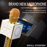 Mini microphone de karaoke du meilleur des prix téléphone mobile portatif tenu dans la main sans fil de Bluetooth