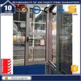 Fenêtre d'ouverture en aluminium avec fermeture éclair en aluminium avec stores