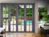 Porta de dobradura de alumínio da vitrificação dobro da alta qualidade do projeto simples