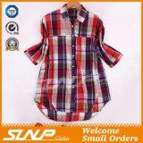 Camicia dell'assegno di modo delle donne dei vestiti della Cina
