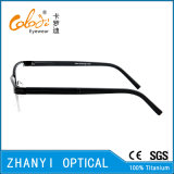 Monocolo di titanio Semi-Senza orlo Eyewear (T9073-EW) del blocco per grafici di vetro ottici di modo