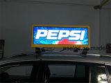 Visualizzazione di LED della parte superiore del tassì di colore completo P5 per la pubblicità con il controllo 3G/WiFi
