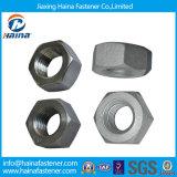Aço inoxidável Ss304 Ss316 ASTM A194 B8 B8m Porca hexagonal pesada / 4.8 Grau 8 Grau / Preto Zincado DIN934 A194 2h Porca hexagonal em estoque