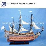 Schip van Handcrafted van de douane het Houten Model