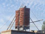 Séparateur simple de spirale d'installation pour l'installation de transformation d'or
