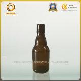 Botella de cerveza de cristal ambarina de la alta calidad 330ml con la tapa de cerámica del oscilación (474)