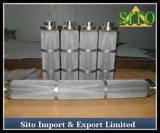 Elementos do filtro do engranzamento de fio do aço inoxidável, filtro de engranzamento do fio