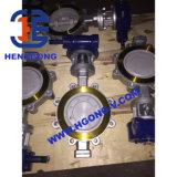 Клапан-бабочка фланца Wcb уплотнения DIN Matel промышленная