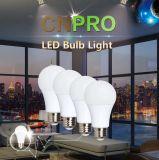 Lampadina 9W della plastica + dell'alluminio A19 LED di alta qualità