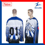 Dessus de Healong vendant le hockey sur glace d'allumette de ligue de sublimation Jersey
